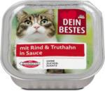 dm Dein Bestes Katzenfutter mit Rind & Truthahn in Sauce