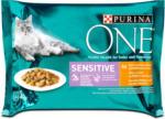 dm One Sensitive Katzenfutter Zarte Stückchen in Sauce Huhn & Karotte