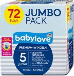 babylove Premium-Windeln Gr. 5 junior (12-25 kg) Jumbo Pack