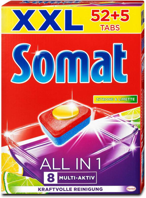 Somat All In 1 Spülmaschinen Tabs Zitrone & Limette