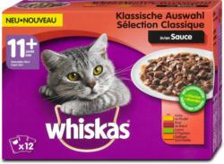 whiskas 11+ Jahre Katzenfutter Klassische Auswahl in Sauce