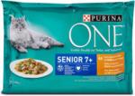 dm One Senior 7+ Katzenfutter Huhn und grüne Bohnen in Sauce
