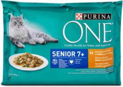 One Senior 7+ Katzenfutter Huhn und grüne Bohnen in Sauce