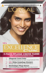 L'Oréal Paris Excellence Creme 3-Fach Pflege Creme Farbe - Nr. 2 Schwarzbraun