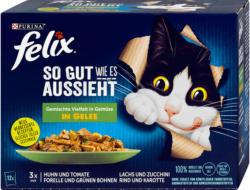 felix So gut wie es aussieht Katzenfutter Gemischte Vielfalt & Gemüse in Gelee