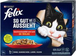 felix So gut wie es aussieht Katzenfutter Fleischauswahl in Gelee