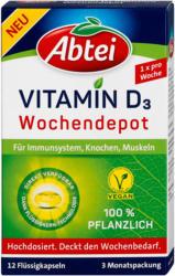Abtei pflanzliche Vitamin D3 Wochendepot Kapseln
