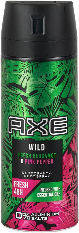 Axe Wild Fresh Deodorant & Bodyspray Bergamot & Pink Pepper