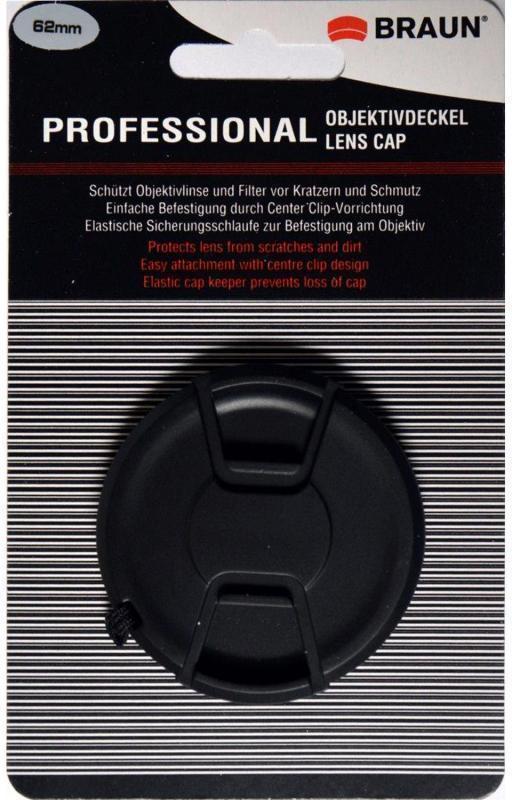 Braun Objektivdeckel 62mm