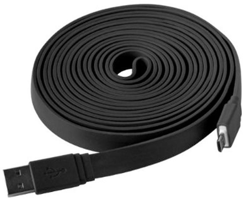 Axxtra Daten- Ladekabel 3m Flachband Micro USB
