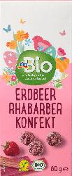 dmBio Erdbeer Rhabarber Konfekt