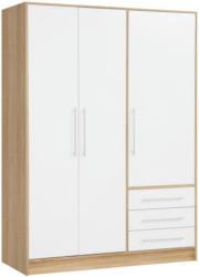 Kleiderschrank Jupiter, Sonoma Eiche Nachbildung/ Weiß, 144,6 cm