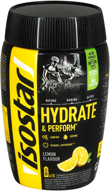 isostar Hydrate & Perform isotonisches Getränke-Pulver Zitrone