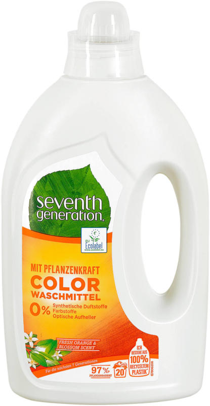 seventh generation Color Waschmittel Fresh Orange & Blossom