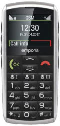 """emporia CLASSIC 2G silber Seniorenhandy 2"""" - vertragsfrei für alle Netze"""