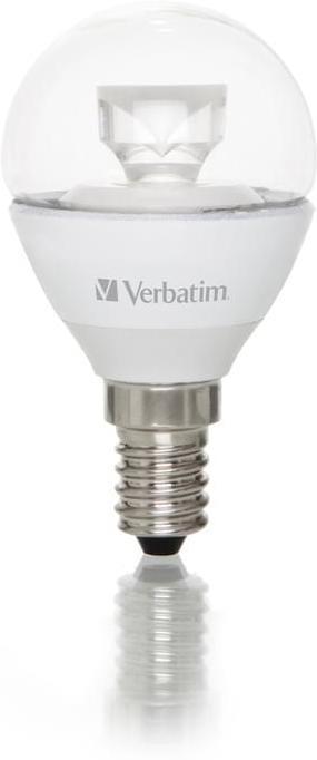 Verbatim LED-Tropfenlampe klar 4,5W E14 250lm 2700K Consumer-Line