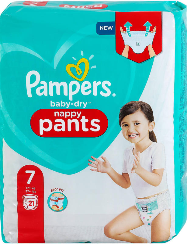 Pampers baby-dry nappy Pants Gr. 7 (17+ kg)