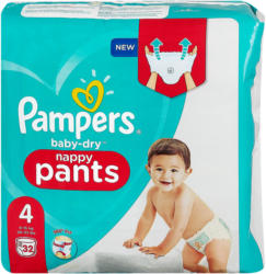 Pampers baby-dry nappy pants Gr. 4 (9-15 kg)