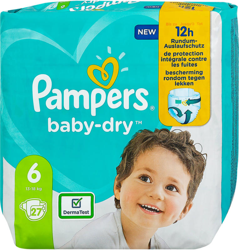 Pampers baby-dry Windeln Gr. 6 (13-18 kg)