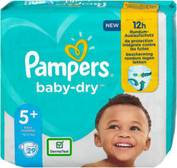 Pampers baby-dry Windeln Gr. 5+ (12-17 kg)