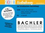SKRIBO Aichinger Skribo Einladung zur Schultaschen-Ausstellung! 07.02. - 15.02. - bis 15.02.2020