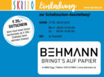 SKRIBO Schachtner Skribo Einladung zur Schultaschen-Ausstellung! 27.02. - 04.03. - bis 04.03.2020