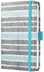 """SIGEL Wochenkalender """"Jolie - Strichmuster"""" A6 schwarz/blau 2020"""