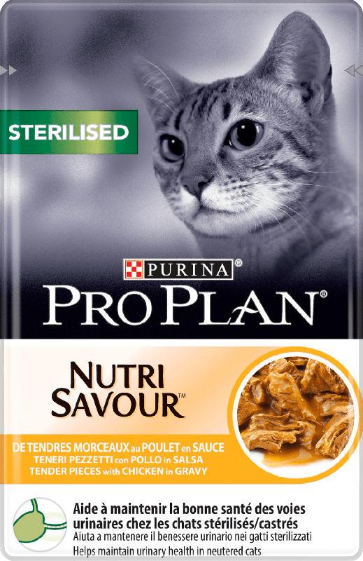 PROPLAN Nassfutter für Katzen, Adult, STERILISED mit Huhn