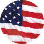 """PAGRO DISKONT Pappteller """"USA"""" Ø 26,6 cm 8 Stück"""