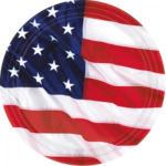"PAGRO DISKONT Teller ""USA"" 8 Stück Ø 17,7 cm"