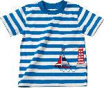 dm-drogerie markt ALANA Kinder Shirt, Gr. 92, in Bio-Baumwolle, weiß, blau