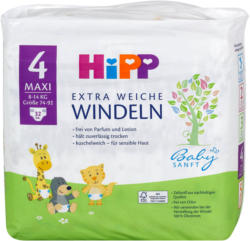 Hipp Babysanft Extra Weiche Windeln Gr. 4 (8-14 kg)