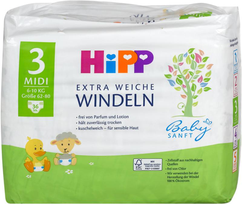 Hipp Babysanft Extra Weiche Windeln Gr. 3 (6-10 kg)