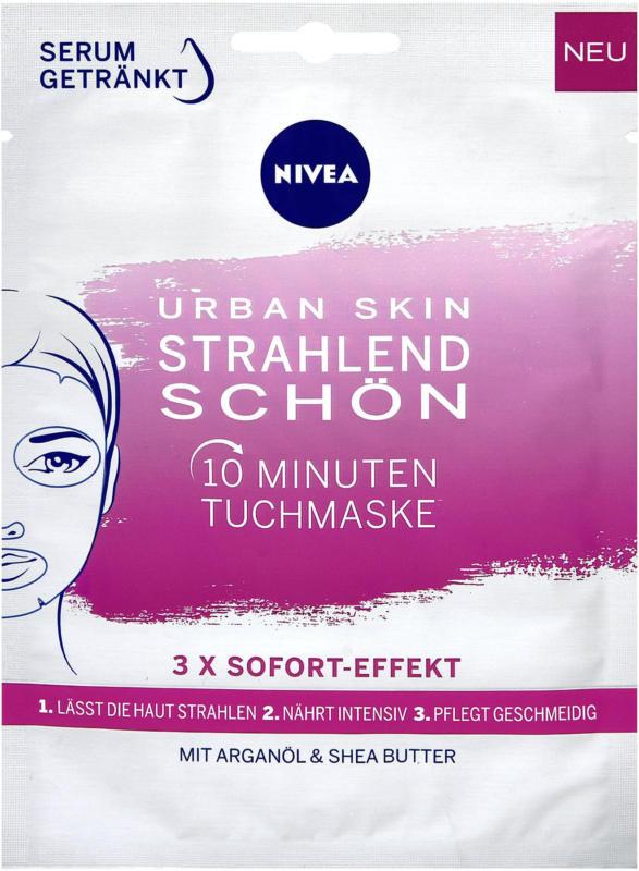 Nivea Urban Skin Strahlend Schön 10 Minuten Tuchmaske