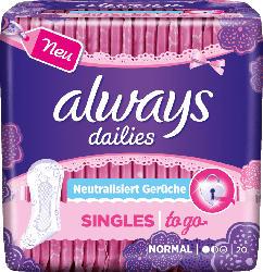 always Slipeinlage Singles to go Geruchsneutralisierung