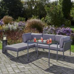Loungegarnitur Madlen in grau inkl. Tisch