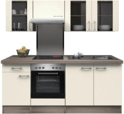 Einbauküche Küchenblock Möbelix Eico 210cm Magnolie