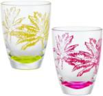 mömax Trinkglas Diamond Palm in Gelb oder Pink