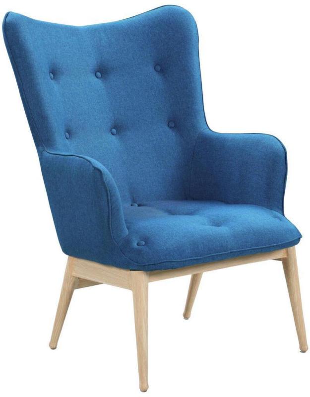 Relaxsessel B: 87 cm Blau
