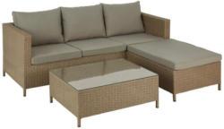 Loungegarnitur mit Sitzkissen 3-Teilig Kreta 2