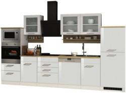 Einbauküche Küchenblock Möbelix Mailand Gsp B: 340 cm Weiss