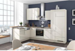 Einbauküche Eckküche Möbelix Florenz 175x305cm Magnolia/Macaibo Hell