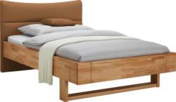 Bett 120/200 cm in Braun, Buchefarben
