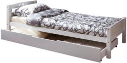 Bett in Weiß
