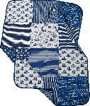 dm-drogerie markt ALANA Baby Decke, in Bio-Baumwolle und Elasthan, 100 x 75 cm, blau, grau
