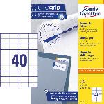 MediaMarkt Universal-Etiketten, ultragrip, 52.5 x 29.7 mm, 100 Bogen/4000 Etiketten, weiß