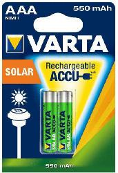 Akku Batterie AAA 550mAh, NiMh, für Solarleuchten, 2er Pack
