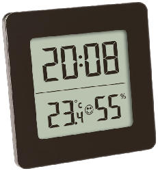 Digitales Thermo-Hygrometer, schwarz