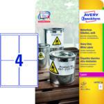 MediaMarkt Wetterfeste Folien-Etiketten, 99,1 x 139 mm, 20 Bogen/80 Etiketten, weiß (L4774-20)