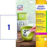 MediaMarkt Wetterfeste Folien-Etiketten, 210 x 297 mm, 20 Bogen/20 Etiketten, weiß